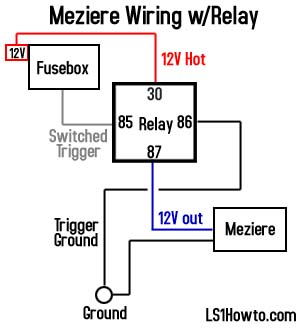 Meziere Water Pump Relay Wiring Confirmation 454634 on wiring diagram for 12v transformer